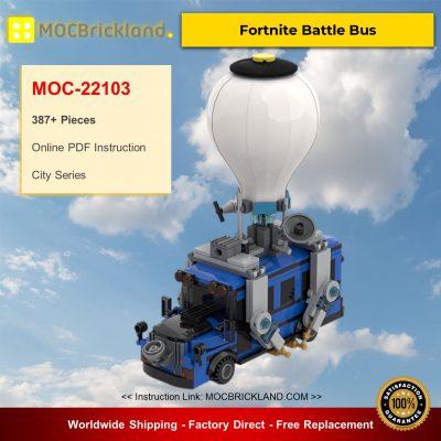 City MOC-22103 Fortnite Battle Bus By MOMAtteo79 MOCBRICKLAND