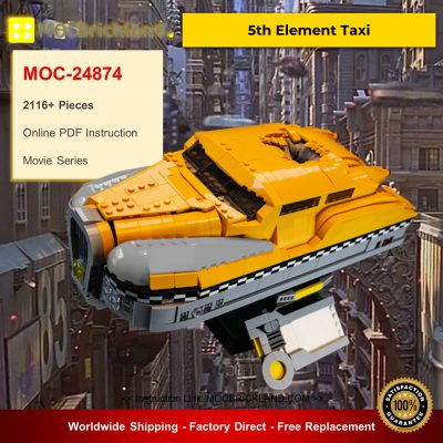 Movie MOC-24874 5th Element Taxi By DavDupMOCs MOCBRICKLAND