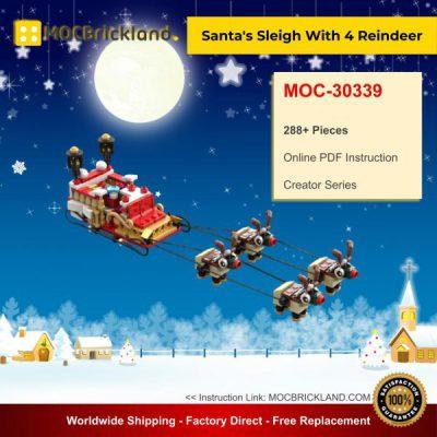 Creator MOC-30339 Santa's Sleigh With 4 Reindeer By Serenity MOCBRICKLAND