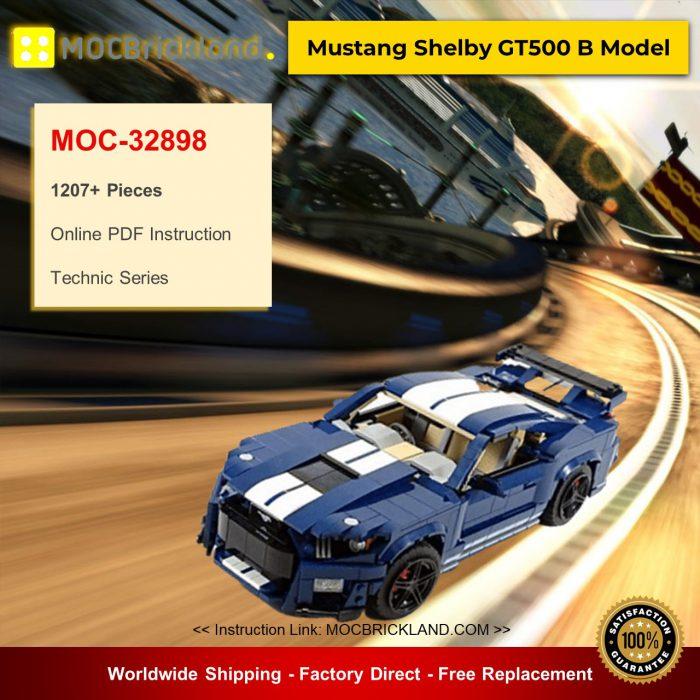 Technic moc-32898 10265 mustang shelby gt500 b model by nkubate