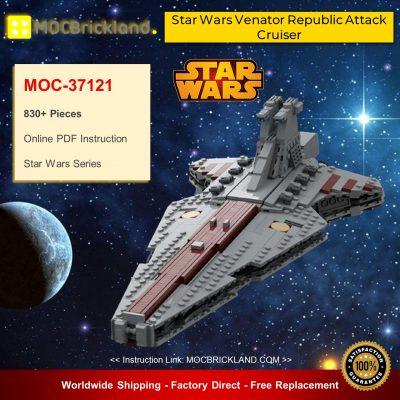 Star Wars MOC-37121 Star Wars Venator Republic Attack Cruiser By BricksByCas24 MOCBRICKLAND
