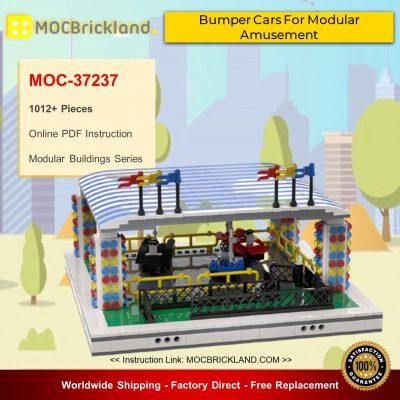 Modular Buildings MOC-37237 Bumper Cars For Modular Amusement Park By gabizon MOCBRICKLAND