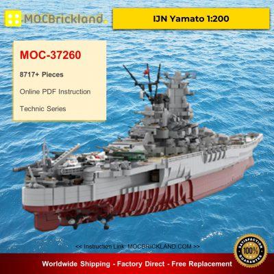 Technic MOC-37260 IJN Yamato 1:200 By rad0lf MOCBRICKLAND