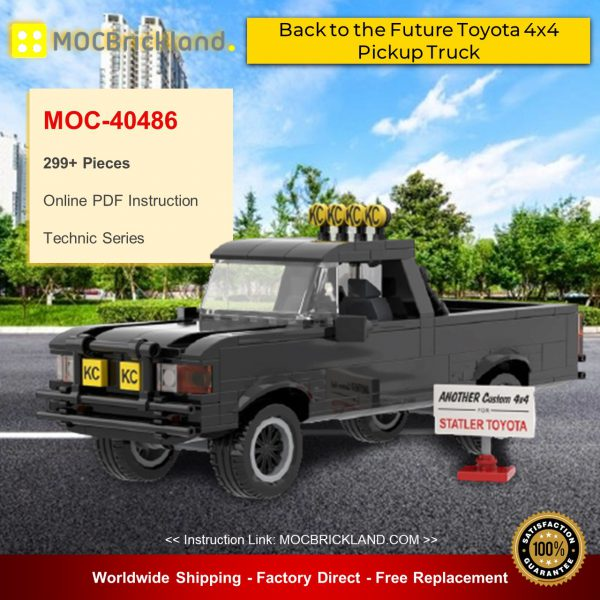 Technic MOC-40486 Back to the Future Toyota 4x4 Pickup Truck By mkibs MOCBRICKLAND