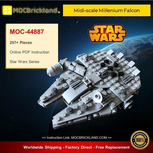 Star Wars MOC-44887 SW Midi-scale Millenium Falcon By SserjayY MOCBRICKLAND