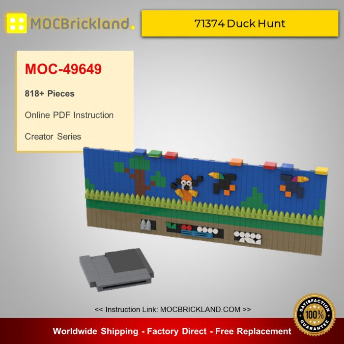 Creator moc-49649 71374 duck hunt | nintendo entertainment system alternative build by buildmaster mocbrickland