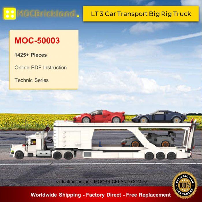 Technic moc-50003 lt 3 car transport big rig truck by legotuner33 mocbrickland