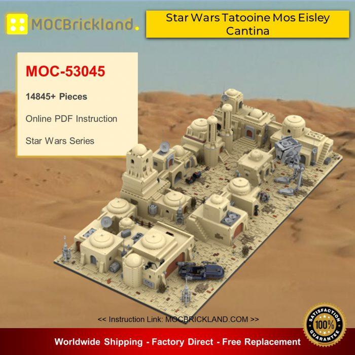 Star wars moc-53045 star wars tatooine mos eisley cantina mocbrickland