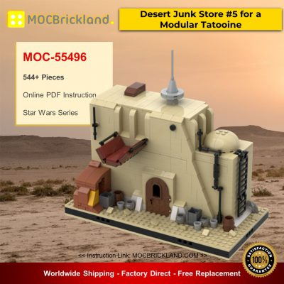 Star Wars MOC-55496 Desert Junk Store #5 for a Modular Tatooine By gabizon MOCBRICKLAND
