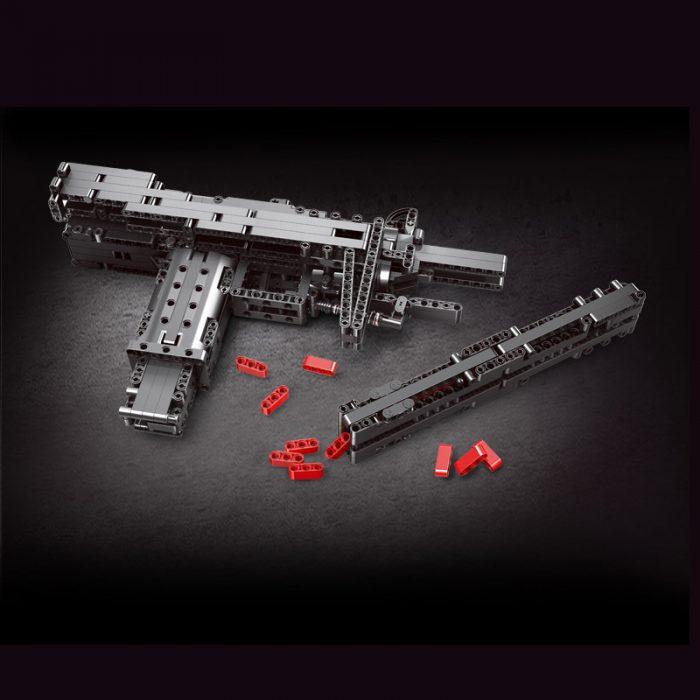 Military mouldking 14006 mini uzi submachine gun