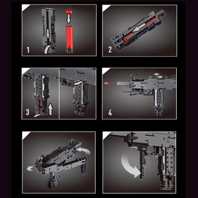 MOULDKING 14006 Mini Uzi Submachine Gun 3