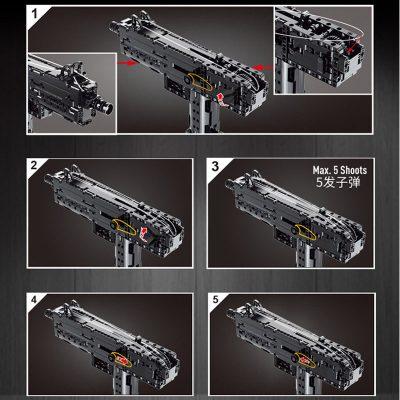 MOULDKING 14012 American Ingram Mac 10 Submachine Gun 4