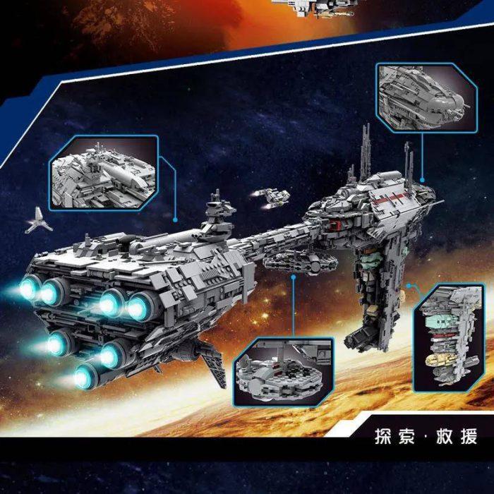 Star Wars MOULDKING 21001 MOC-5083 Mortesv's UCS Nebulon-B Medical Frigate By AllOutBrick