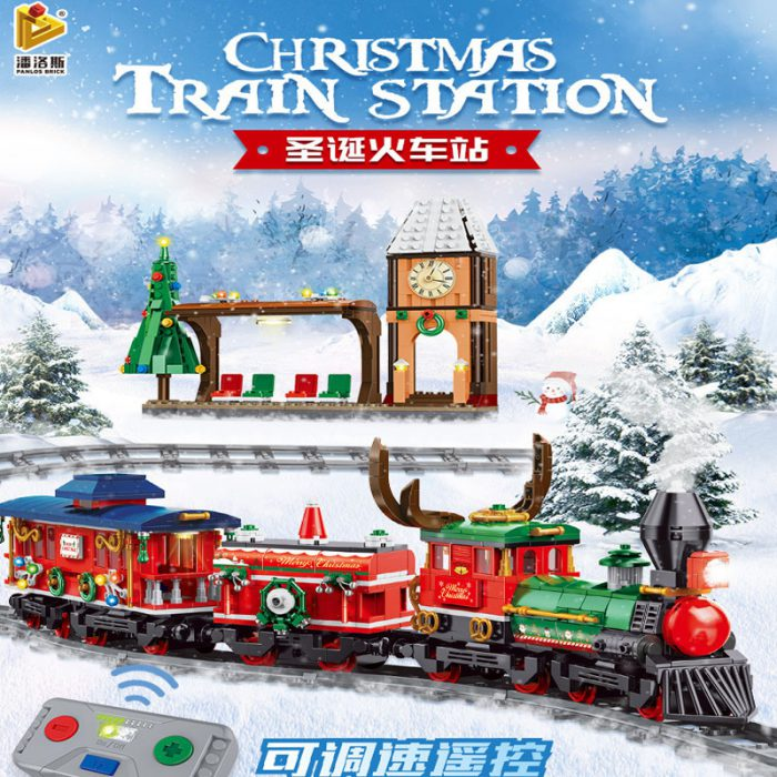 Creator PANLOSBRICK 613005 Christmas Train Station
