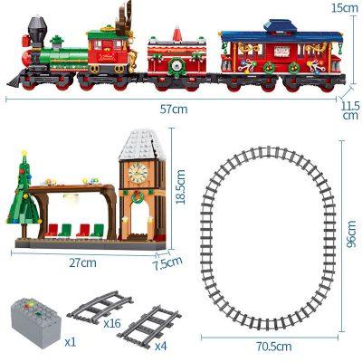 Creator PANLOSBRICK 613005 Christmas Train Station