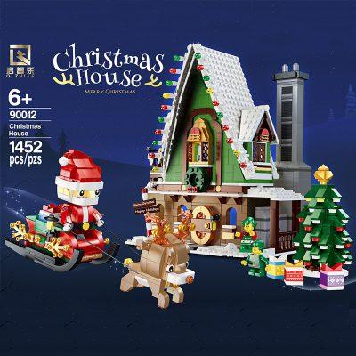 Creator QIZHILE 90012 Winter Christmas Village Elf Club House Compatible 10275