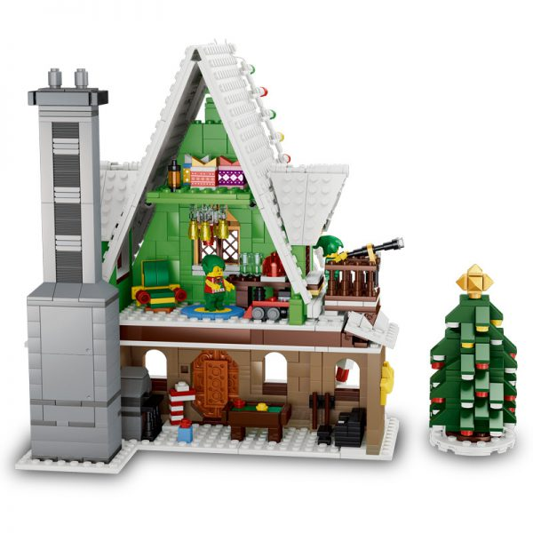 QIZHILE 90012 Winter Christmas Village Elf Club House Compatible 10275 v3