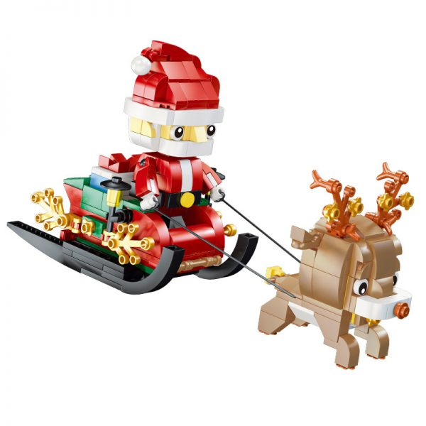 QIZHILE 90012 Winter Christmas Village Elf Club House Compatible 10275 v4