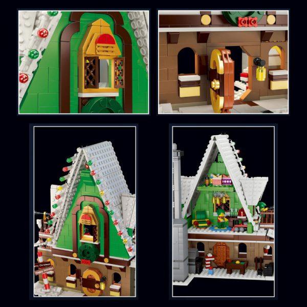 Creator QIZHILE 90013 Christmas Elf House