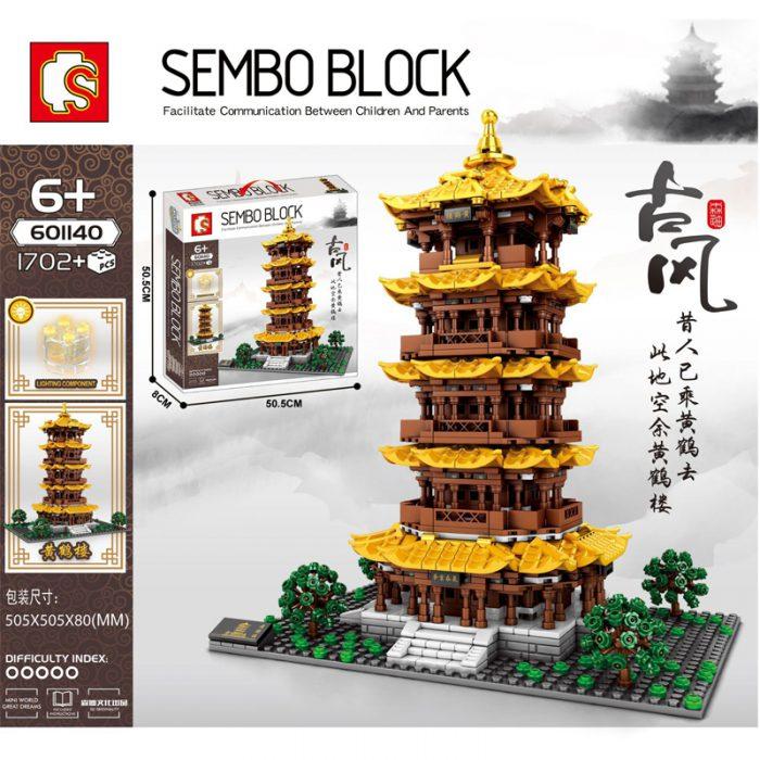 Modular buildings sembo 601140 yellow crane tower in wuhan, hubei
