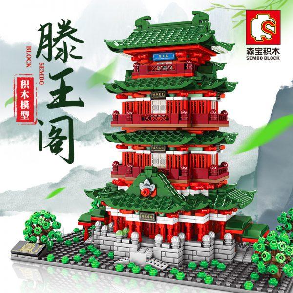 Modular Buildings SEMBO 601141 Pavilion of Prince Teng, Tengwang Pavilion, Nanchang, Jiangxi