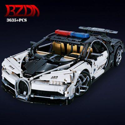 Technic DECOOL 3388D The Police Racing Car 2