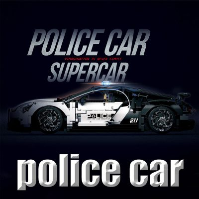 Technic DECOOL 3388D The Police Racing Car