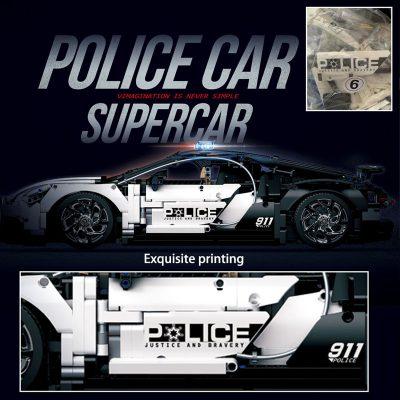 Technic DECOOL 3388D The Police Racing Car 8