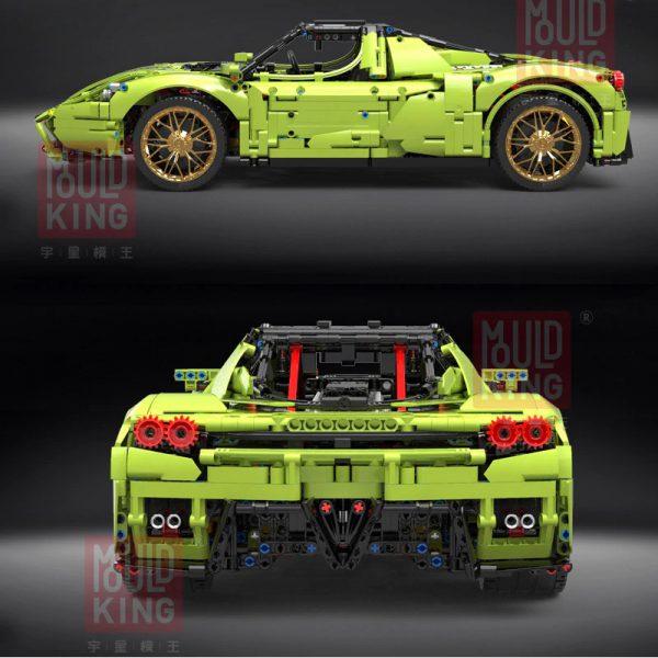 Technic MOULDKING 13074 The Green Sport Car 2
