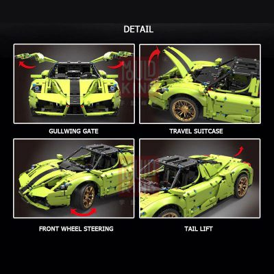 Technic MOULDKING 13074 The Green Sport Car 3