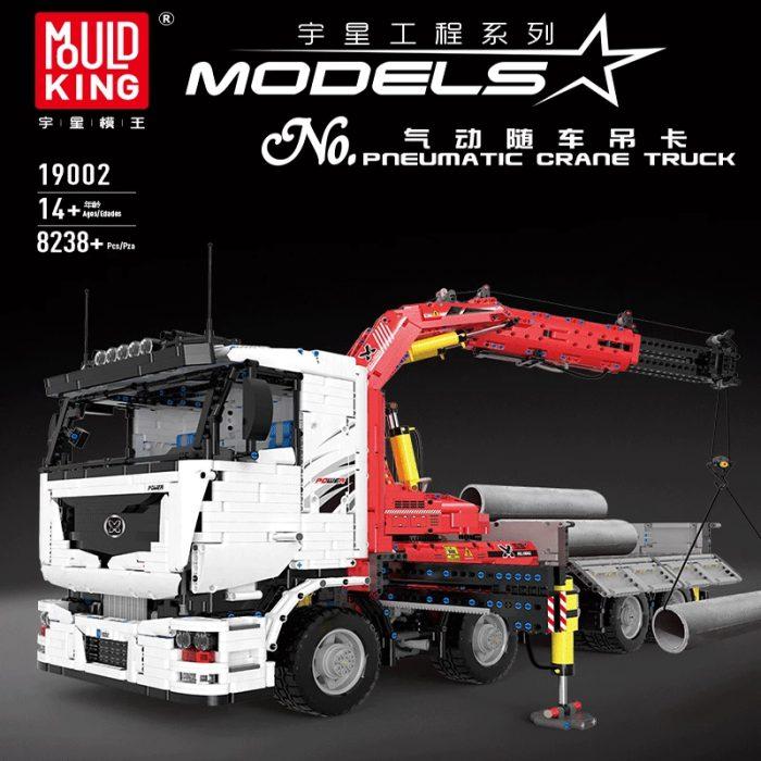 Technic mouldking 19002 pneumatic crane truck