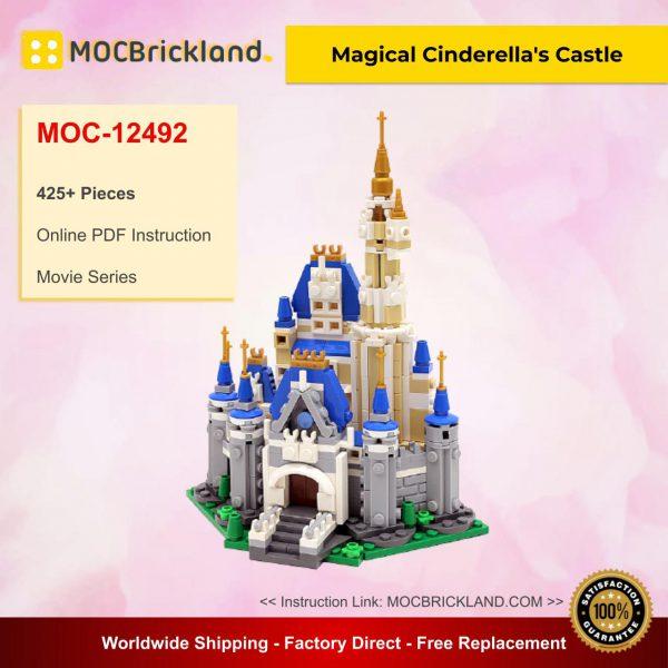 Movie moc-12492 magical cinderella's castle by buildbetterbricks mocbrickland