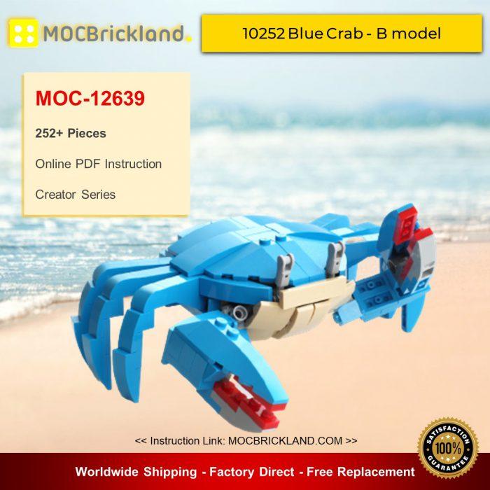 Creator MOC-12639 10252 Blue Crab - B model By buildme MOCBRICKLANDCreator MOC-12639 10252 Blue Crab - B model By buildme MOCBRICKLAND