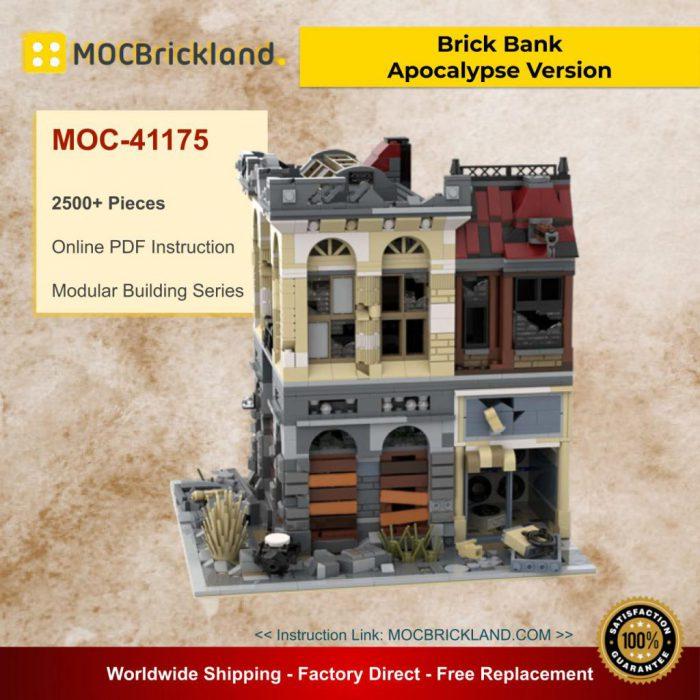 Modular Buildings MOC-41175 Brick Bank - Apocalypse Version By SugarBricks MOCBRICKLAND