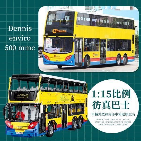 BUILO YC QC015 TransBus Enviro 500 Mark I City Double Decker Bus 3