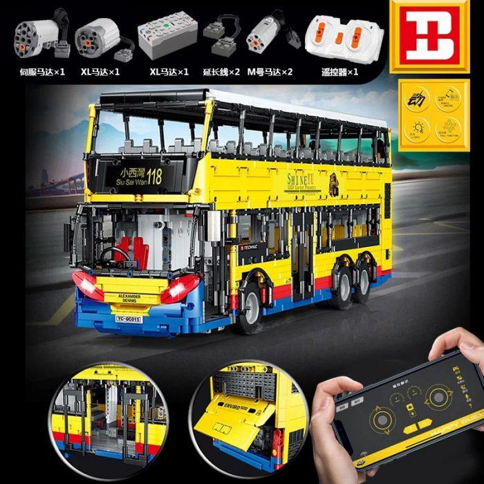 Technic BUILO YC-QC015 TransBus Enviro 500 Mark I City Double Decker Bus