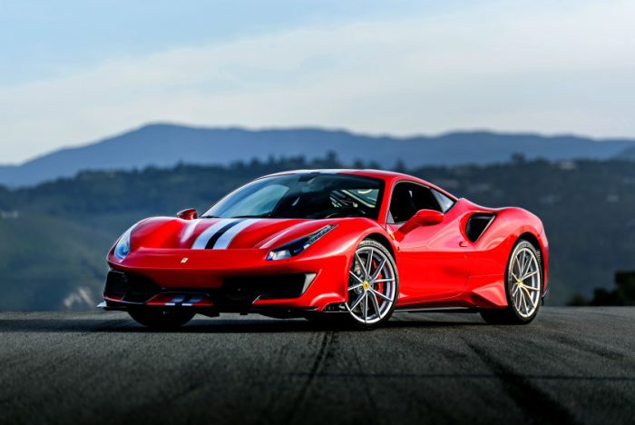 Ferrari 488 red track sports car