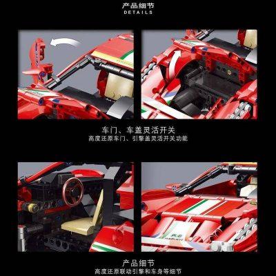 LEJ 50026 Ferrari 488 Red Track Sports Car 3