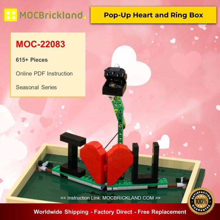 Valentine MOC-22083 Pop-Up Heart and Ring Box By JKBrickworks MOCBRICKLAND
