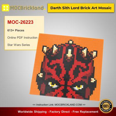 Star Wars MOC-26223 Darth Sith Lord Brick Art Mosaic By mkibs MOCBRICKLAND