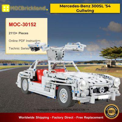 Technic MOC-30152 Mercedes-Benz 300SL '54 Gullwing Super Car by Sheepo MOCBRICKLAND