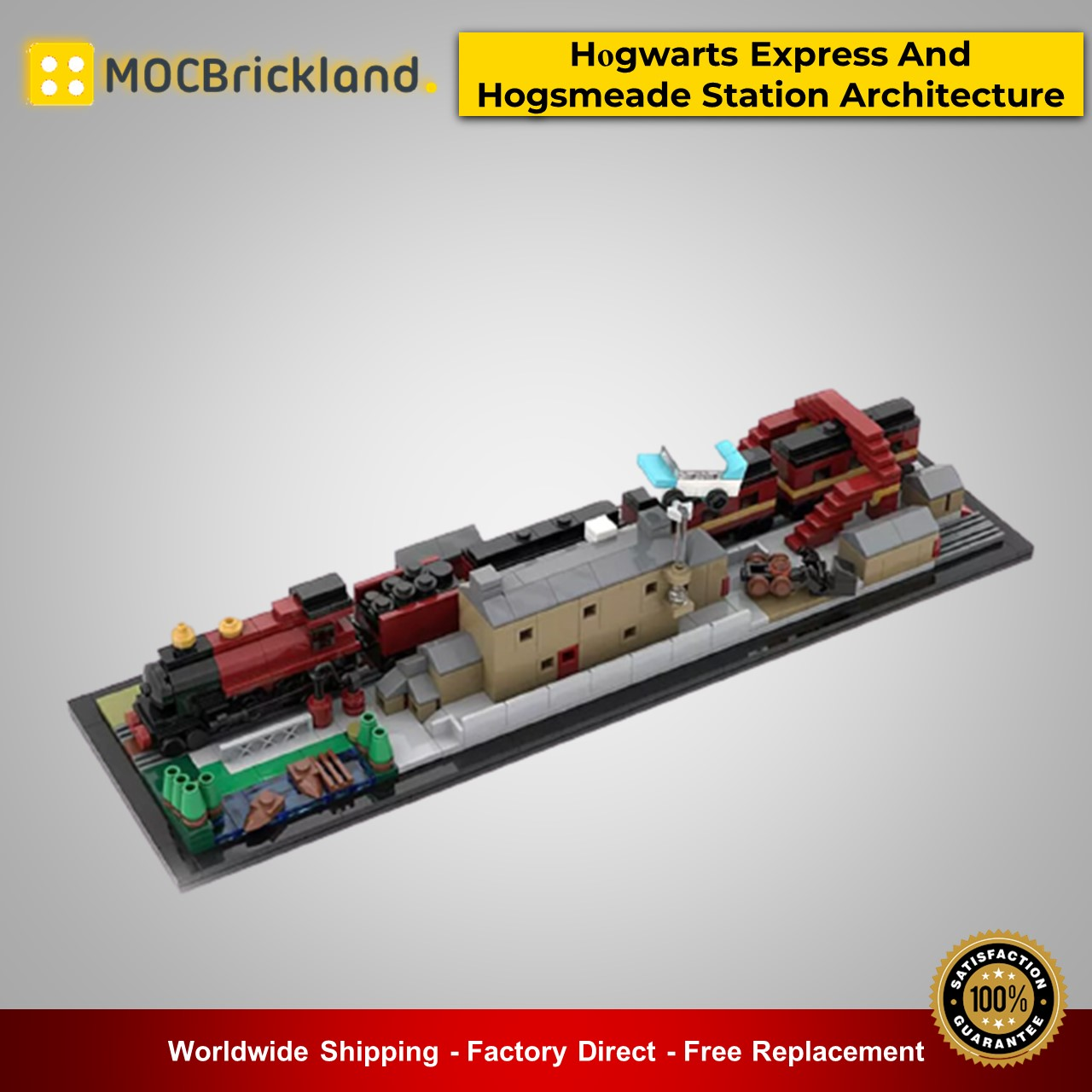 Movie moc-31632 hօgwarts express and hogsmeade station architecture harry potter by momatteo79 mocbrickland