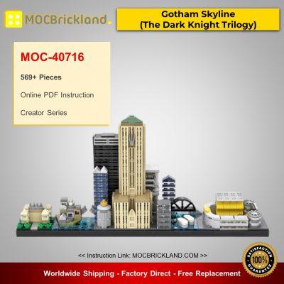 Creator MOC-40716 Gotham Skyline (The Dark Knight Trilogy) By benbuildslego MOCBRICKLAND