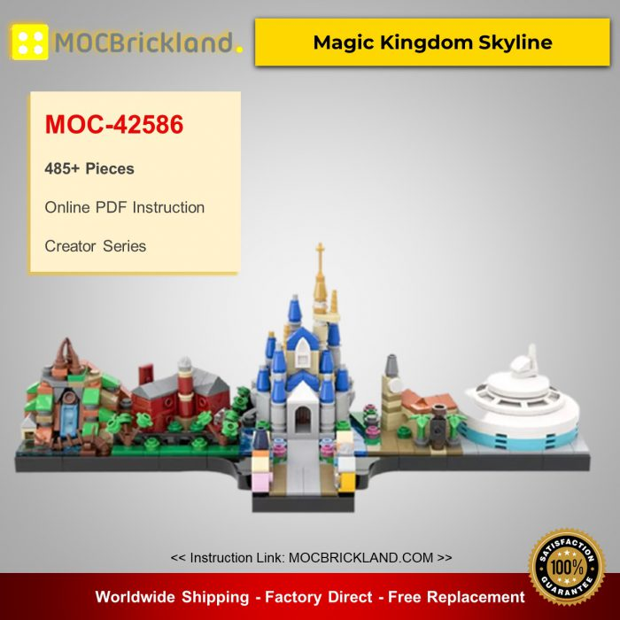 Creator moc-42586 magic kingdom skyline by benbuildslego mocbrickland