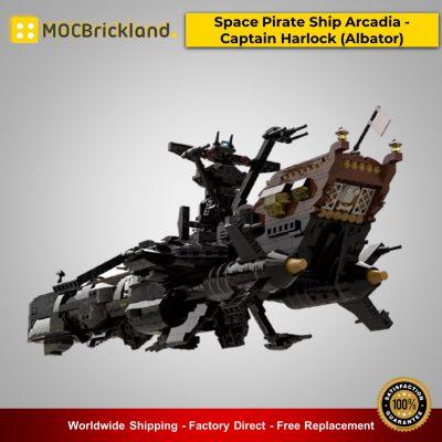 Space MOC-48193 Space Pirate Ship Arcadia - Captain Harlock (Albator) By apenello MOCBRICKLAND