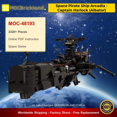 Space MOC-48193 Space Pirate Ship Arcadia - Captain Harlock (Albator) By apenello MOCBRICKLAND