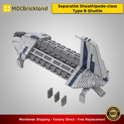 Star Wars MOC-48229 Separatist Sheathipede-class Type B Shuttle By starwarsfan66 MOCBRICKLAND