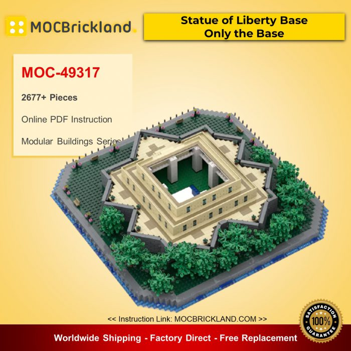 Modular Buildings MOC-49317 Statue of Liberty Base - Only the Base By adambetts MOCBRICKLAND