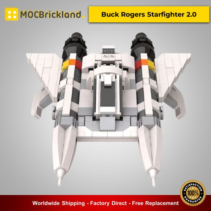 Space moc-49322 buck rogers starfighter 2. 0 by apenello mocbrickland