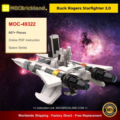Space MOC-49322 Buck Rogers Starfighter 2.0 By apenello MOCBRICKLAND